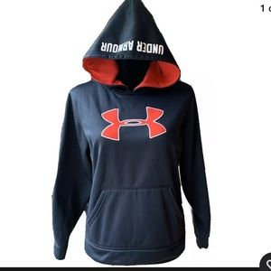 Black & Red Under Armour Storm Hoodie Youth Large